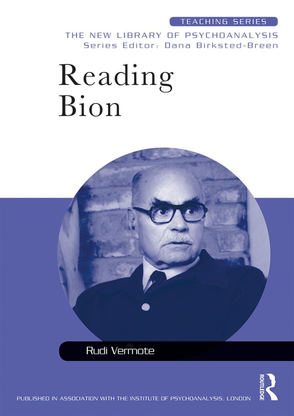 Capa do livro Reading Bion